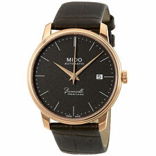 New Mido Baroncelli II Automatic Leather Strap Mens Watch M0274073608000