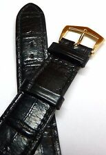 Authentic Patek Philippe Alligator Strap and 18k Solid Gold Buckle