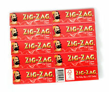 10 booklets rolling paper ZIG-ZAG red Cut Corners - 600 papers