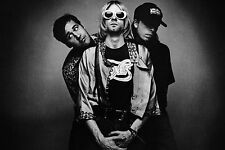 Framed Print - Nirvana (Picture Rock Band Kurt Cobain Music Nevermind In Utero)