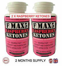 X2 RASPBERRY FAT BURNERS CAPSULES STRONGEST LEGAL SLIMMING DIET & WEIGHT LOSS