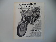 advertising Pubblicità 1970 MOTO SUZUKI T 500 TITAN 3 III