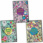 Beth Gunnell Pretty Patterns Colouring 3 Books Collection Set Flowers New