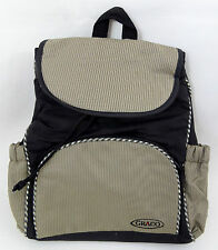 Graco Rucksack Baby Nappy Changing Bag in Khaki Brown & Black Backpack Dads Mens