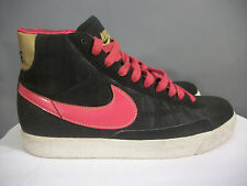 NIKE BLAZER MID (GS) 325064-061 YOUTH SIZE 6 BLACK / VERY BERRY METALLIC GOLD