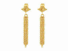 Gorjana Faryn Fringe Drop Earrings 18K Gold Plated NEW