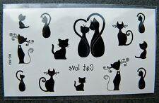 Tattoo Temporary Party Sticker Love Cat Pussycat Tattoos Clubbing Water Transfer