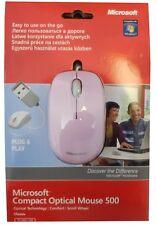 Microsoft Compact Optical Mouse Maus 500 schnurgebunden USB Pink NEU OVP