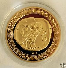 Greek~ATHENA+OWL - GOLD Plated collectable. C of A Included