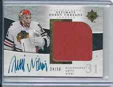 Antti Niemi 09-10 Ultimate Collection Debut Threads AU Jersey Card# SDT-AN #d/50