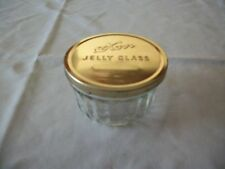 Antique Wide Mouth Kerr Glass Jelly Jar with Lid
