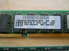 IBM memory SIMM RS6000 pSeries 16MB 57G8901 60G2950 92G7204 70ns 72 pin - Tested