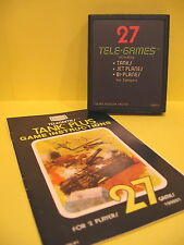 Tank Plus Atari 2600  Sears 27 Tele-Games 99801 with Instructions 1977 Used