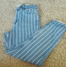 BNWT Topshop MOM high waist stripe denim jeans size 8 W26 L30 Rrp £42