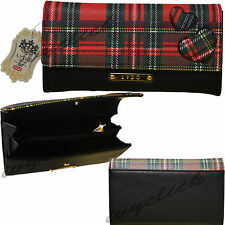 LYDC Tartan Design Ladies Purse Wallet London Designer Faux Leather Boxed Gift