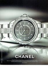 PUBLICITE ADVERTISING 027  2012   montre J 12 chronomatic par Chanel