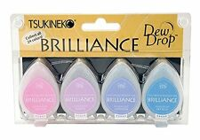 Tsukineko Brilliance Dew Drop Inkpad 4/Pkg - Jewel Tones -NEW!!