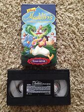 Disney's Aladdin's Arabian Adventures: Team Genie - VHS Video Tape -Cartoon-Rare