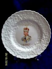 """RARE 1937 CORONATION MEAKIN  WITH CROWNED KING EDWARD VIII  8 1/2"""" CHINA PLATE"""