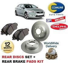 FOR FORD MONDEO 2007-2014 NEW REAR BRAKE DISCS SET + DISC PADS KIT