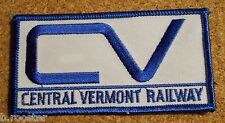 Central Vermont Patch Embroidered Railroad Train 3-7/8 inches Blue