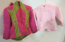 Toddler Girls 18 Month Winter Coat Jacket Lot of 2 Rothschild Carters Pink Fall