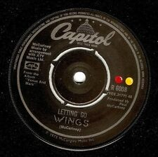 WINGS (PAUL McCARTNEY) Letting Go Vinyl Record 7 Inch Capitol R 6008 1975 EX