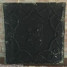 """24""""x 24"""" Antique Ceiling Tin Tile *See Our Videos* Reclaimed Black Metal G2"""