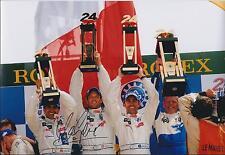 Marc GENE 12x8 SIGNED Photo PEUGEOT Le Mans RACE Winner Autograph AFTAL COA