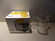 Vintage Signed ALVAR AALTO Iittala Finland Clear Glass 3030 Vase - Original Box