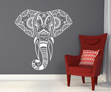 Mandala Elephant Wall Decals Hippie Decal Yoga Vinyl Sticker Boho Bedroom T77