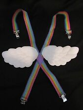 ANGEL WING RAINBOW SUSPENDERS FOR KIDS COSTUME DRESS UP PLAY