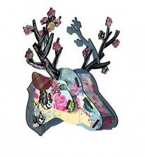 Miho Deer Head - Blossom - Unique Wall Hanging - New Home Gift idea - Women