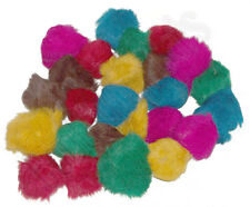 24 Assorted Bat Around Fur Ball Cat Toys (2-2.5 inches ea.) - Happy Cats MEOW!