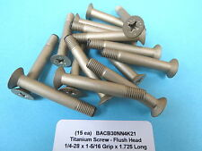 "1/4-28 x 1.725"" Titanium (15) Flush Screw Bolt Boeing Aircraft BACB30NN4K21"