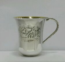NEW Solid Silver Sterling 925 Kiddush Cup kids Goblet Becher Judaica Shabbat