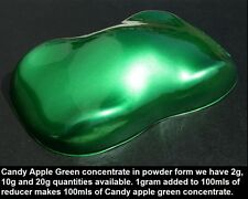 120g Candy Apple Green CONCENTRATE in powder form for Auto paint custom paint