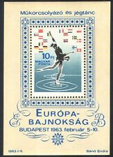 Hungary 1963 Figure Skating/Ice Dancing/Sports/Games/Flags 1v m/s (n40314)
