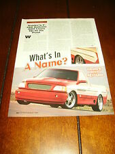 1997 FORD TRADERS F150 GALAXIE 500 PICKUP TRUCK HOT ROD ***ORIGINAL ARTICLE***