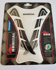 "ORBITAL TANK PROTECTOR PAD - HONDA - CLEAR/BLACK STRIPES - 5.6"" x 7.5"""