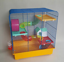 Hamster Mouse Cage Rodents Rat With Water Bottle House Tube Wheel Gerbil