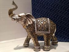 Large Shudehill Giftware Diamond Mirror Elephant Ornament Gift Figurine