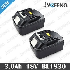 2 X NEW 18V 3.0AH LITHIUM ION BATTERY FOR MAKITA BL1830