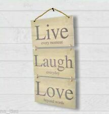 Peste Pared Live Laugh Love Colgante de Decoración de pared eslogan Pasillo Hogar