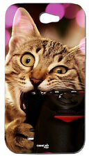 CUSTODIA COVER CASE GATTO SELFIE MORSO REFLEX PER SAMSUNG GALAXY NOTE 2 N7100