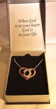 "18 Kt Gold Over Sterling Silver God's Heart Necklace With 18"" Chain - NIGB (#22)"