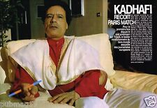 Coupure de Presse Clipping 1986 (4 pages) Kadhafi