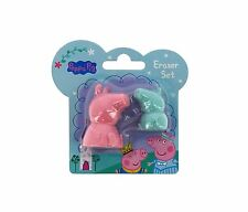 Peppa Pig Twin 3D Peppa & George Eraser Rubber Set