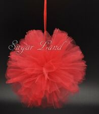 20 PCS Tulle Pom Flowers Balls Wedding Party Decorations Outdoor Decor