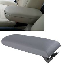Grey Leather Center Console Armrest Cover Lid For VW Jetta Golf MK4 Beetle 99-04